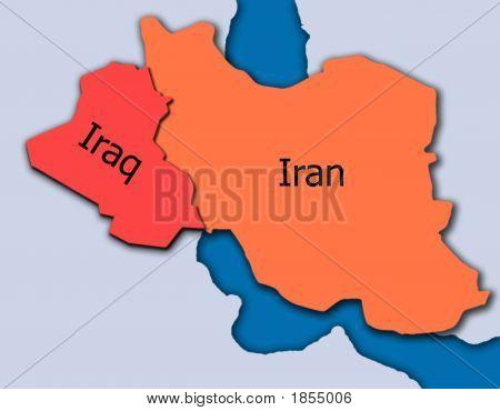 Irak Karte Nahost