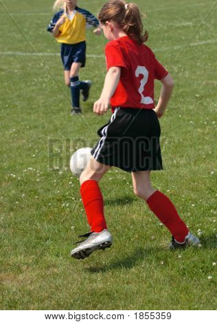 Girl On Soccer Field