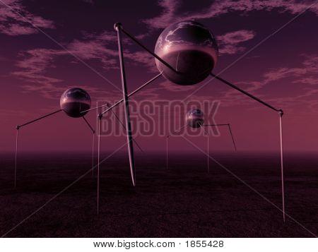 Alien Ball Tripods