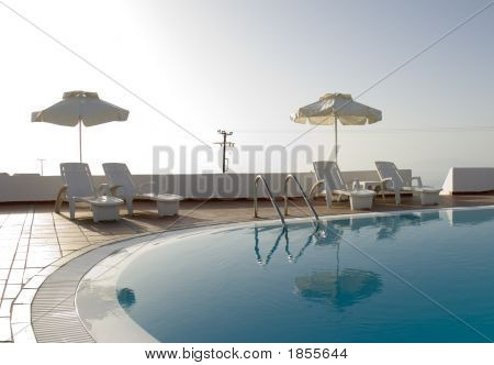 Swimming Pool Greek Island Hotel