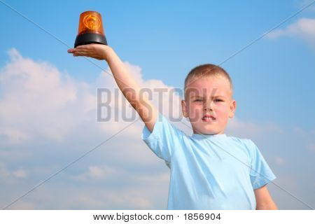 Child With The Automobile Blinker