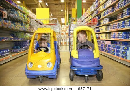 Children In The Toy Automobiles