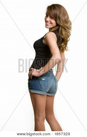 Woman In Cut-Offs