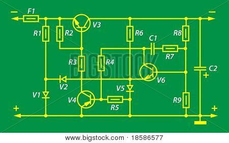 electric scheme of a power supply unit