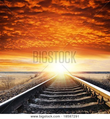 railway to sunset