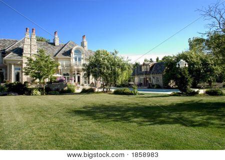 Luxury Home Back Yard