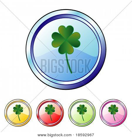 Clover vector buttons