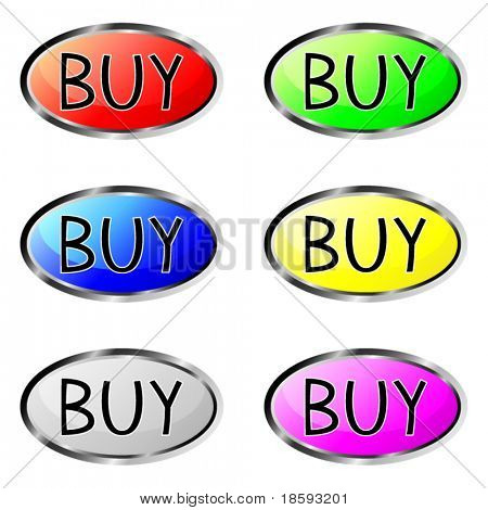 Colorful buy vector buttons