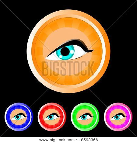 Vector eye buttons