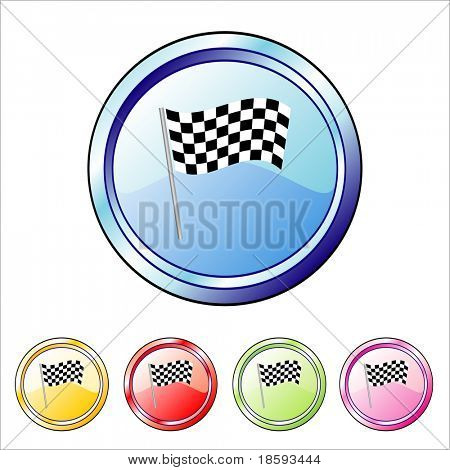 Finish flag vector buttons