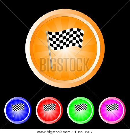 Burst finish flag vector buttons