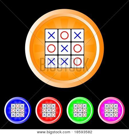 Tic tac toe vector buttons