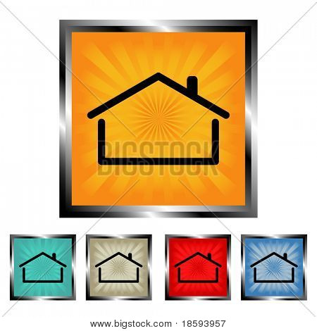Square house vector buttons 2