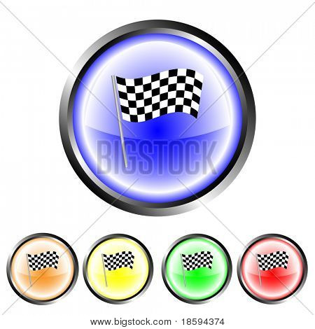 Finish flag buttons - vector