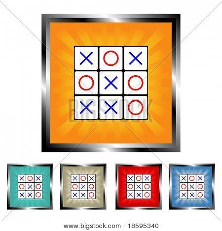 Square tick tack toe burst buttons