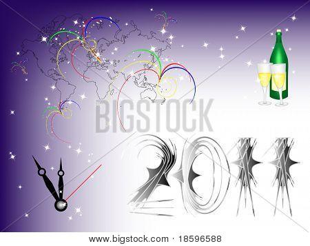 Neues Jahr 2011 kommen