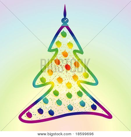 Rainbow colors decorative tree