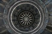 foto of afterburner  - Inside the rear of a jet engine - JPG