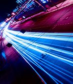 pic of long distance  - Night motion on urban streets - JPG