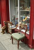 image of bric-a-brac  - Exterior of old Antique Shop in Ireland - JPG