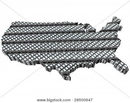 USA Map - Technology