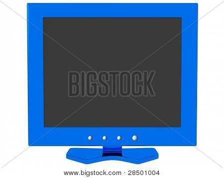 LCD Monitor - Blue