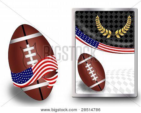 American Football Ball And Web Icon
