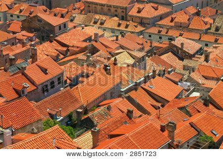 Old Orange Roof Tiles