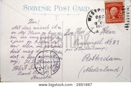 Vintage Postcard Rotterdam