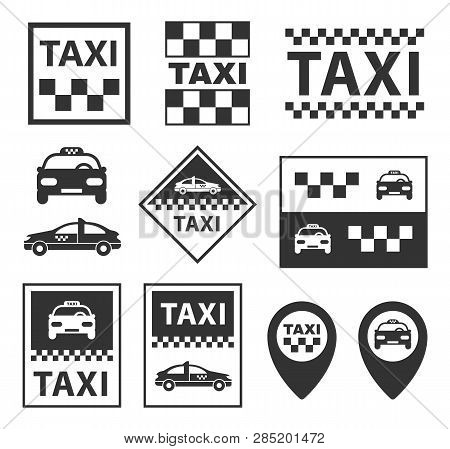 Taxi Icons Taxi Service Signs