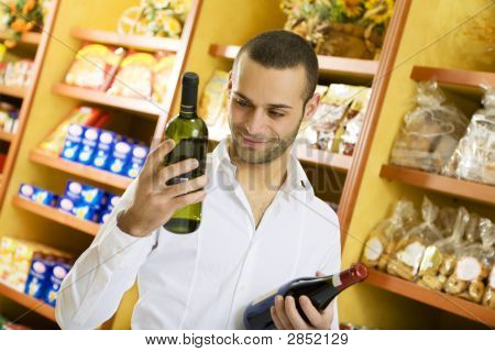 Man With Wine Bottles