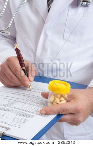 Doctor With Medical Health Record