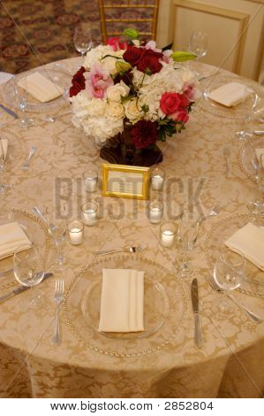Wedding Reception Table And Flowers