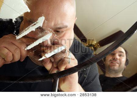 Snorting Cocaine