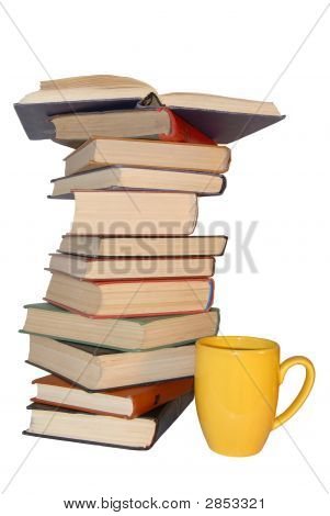 A Few Book With Cup