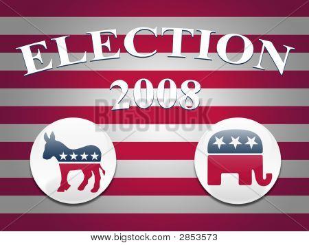 Election 2008 Stripes Background