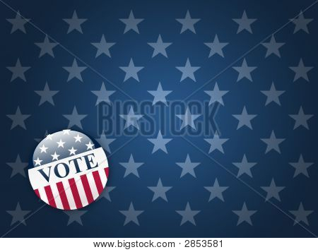 Vote Button On Stars Background