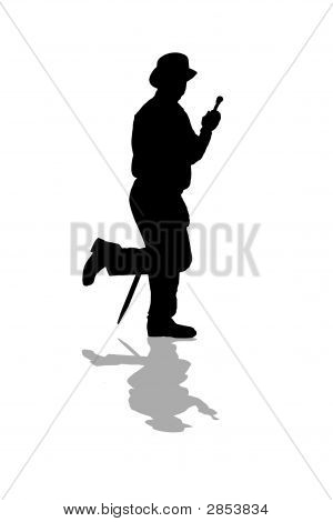 Shadow Man Top Hat http://www.bigstockphoto.com/image-2853834/stock-photo-top-hat-man