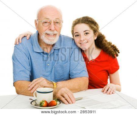 Teen & Grandpa