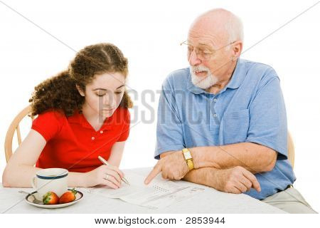 Grandpa Helps Teen