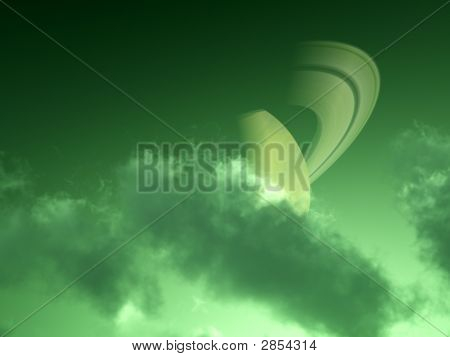 Green Saturn Couds