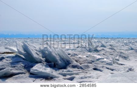 The Frozen Waves Of The Baikal Lake