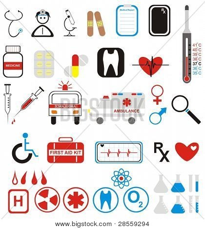 VECTOR - More than 40 Medical Icons Set