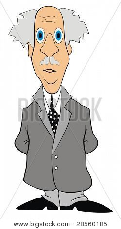 VECTOR - Scientist Character - Old Man wearing Coat