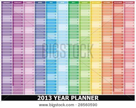 VECTOR -  2013 Year Planner