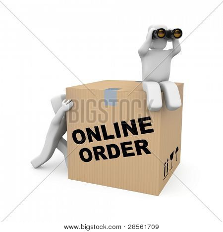 Delivery team. Image contain clipping path
