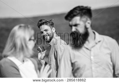 Jealous Concept Man With Beard
