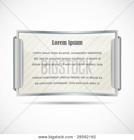 Silver diploma / paper card in gold frame