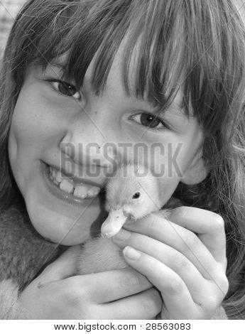 Happy Child with Baby Entchen