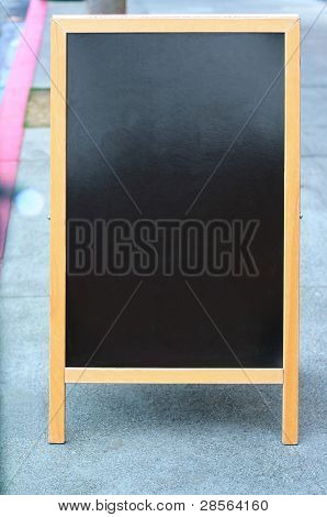 leere Sandwich-Board sign